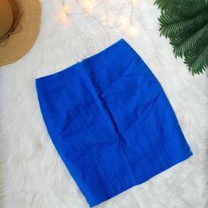 Banana Republic Blue Body-Hugging Pencil Skirt